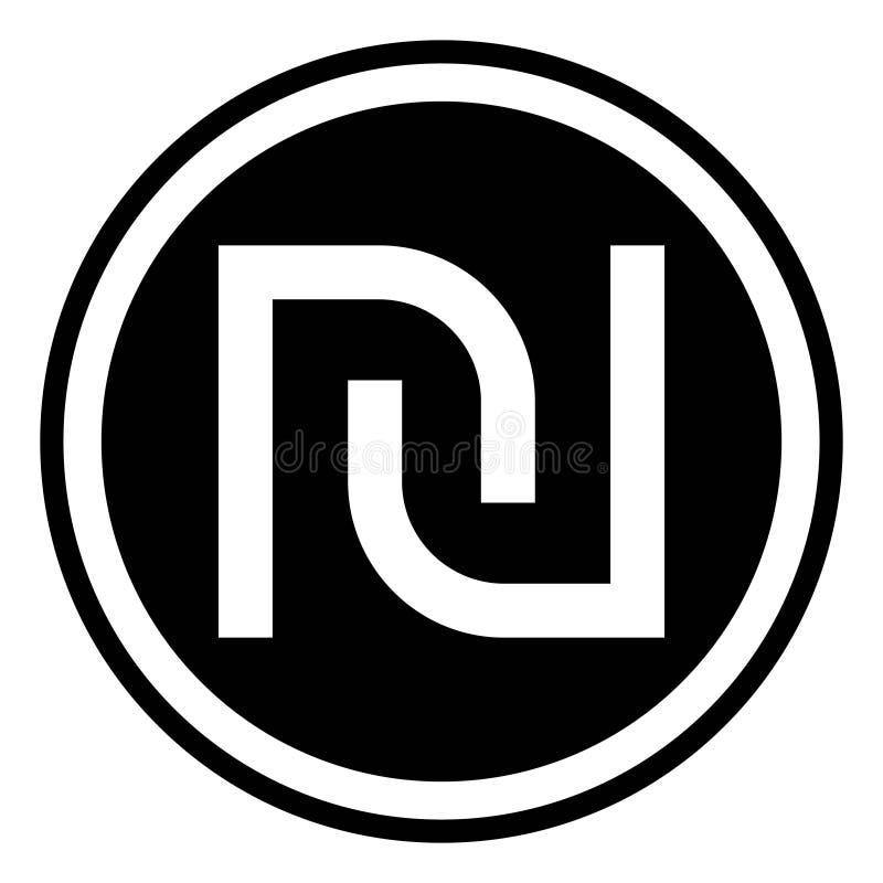 Israeli Shekel Currency Symbol Stock Vector Illustration Of Logo