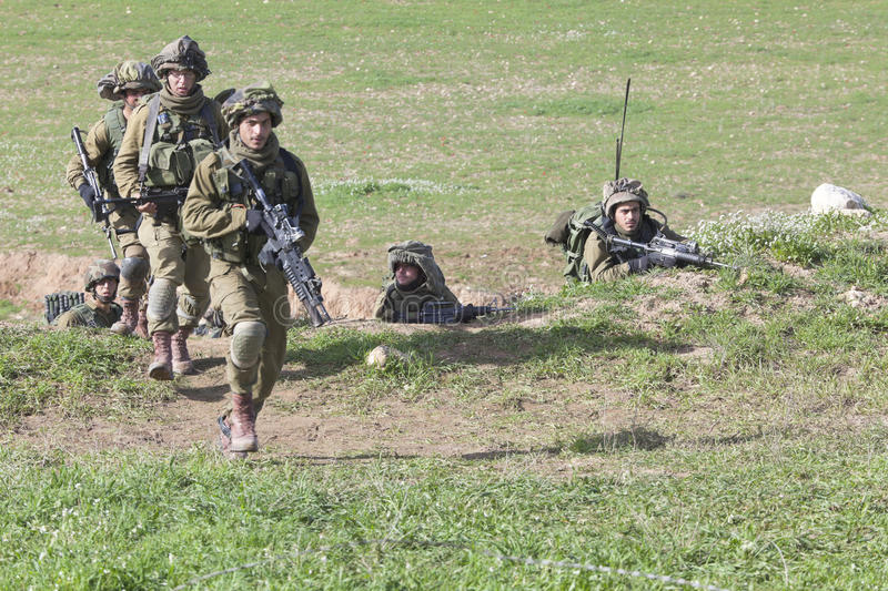 Download Israeli soldier training editorial stock image. Image of nature - 26748799