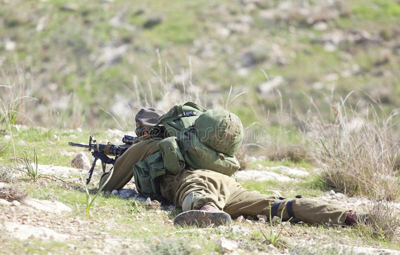 Download Israeli soldier training editorial photography. Image of uniform - 26748852