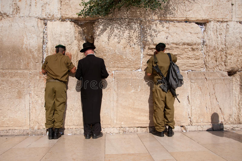 Download Israeli Soldiers At Jerusalem's Western Wall Editorial Image - Image: 21075245