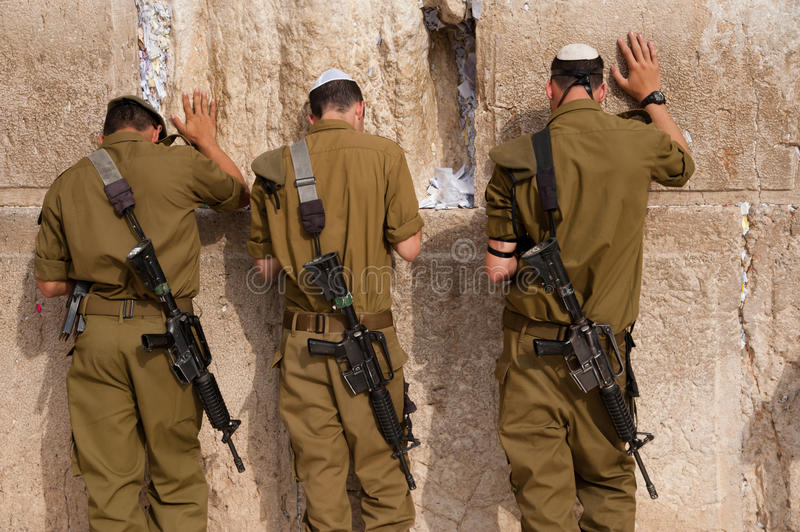 Israeli Soldiers At Jerusalem S Western Wall Editorial Stock Photo
