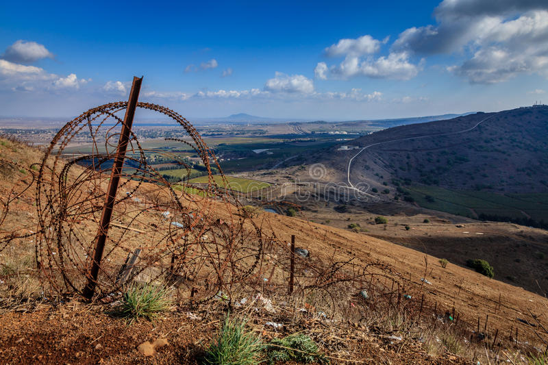 Download Israeli - Syrian border stock image. Image of fortifications - 36776835