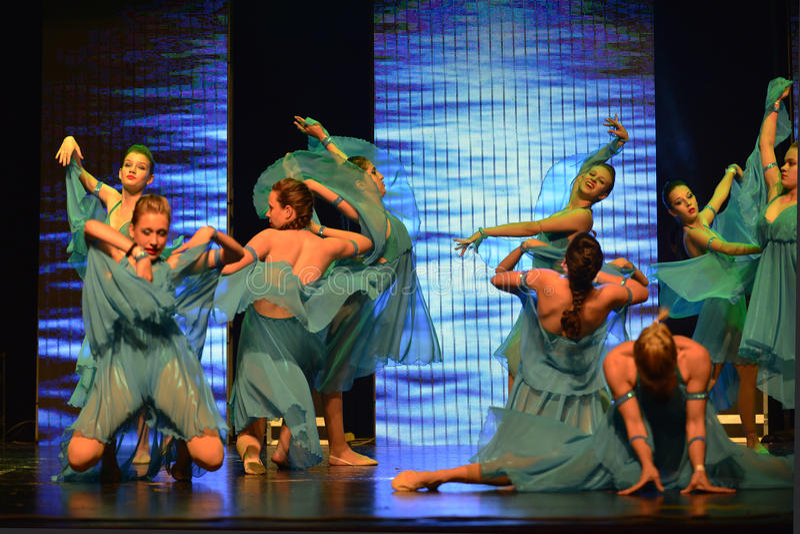 Israeli teen ballet group dancers stock photo