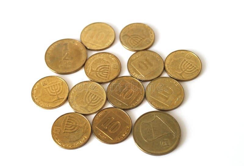 Israelische Änderungs-Münzen Lizenzfreie Stockbilder