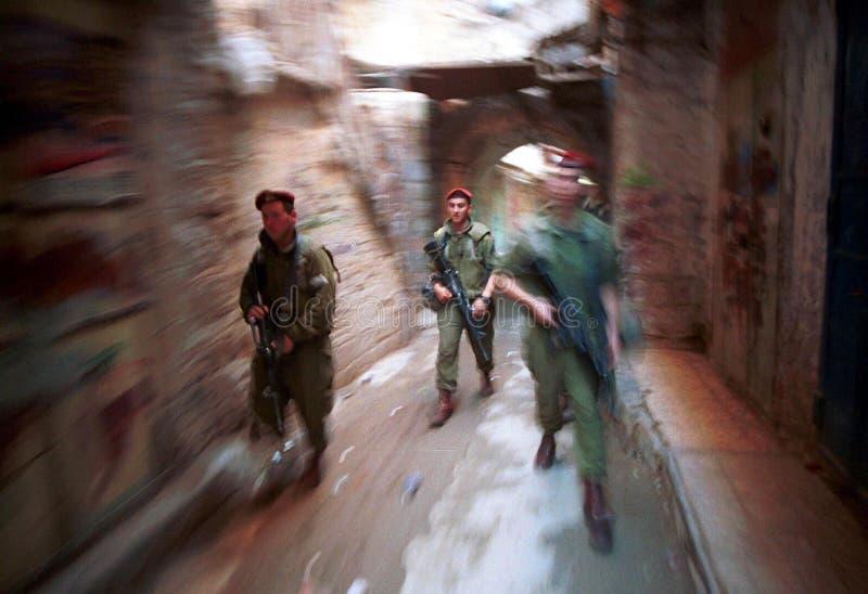 ISRAELISCHE ARMEE AUF DEM WESTJORDANLAND stockfotos