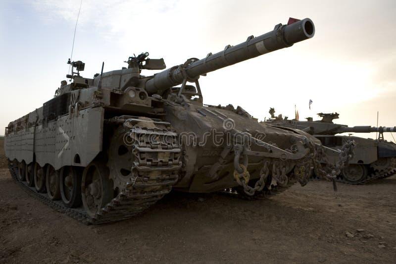 Israelische Armee gepanzerter corp, Becken Merkava lizenzfreie stockfotos