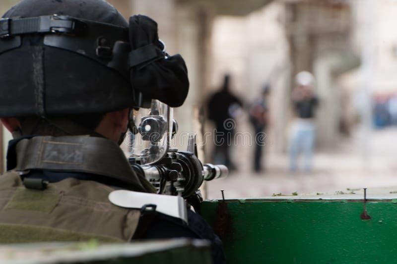 Israelische Besetzung im Westjordanland lizenzfreies stockbild