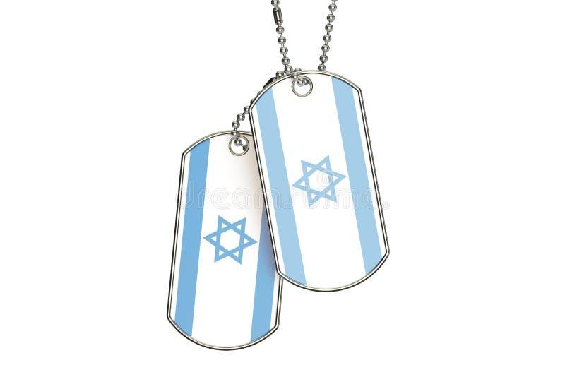 Israelische Erkennungsmarken, Wiedergabe 3D vektor abbildung