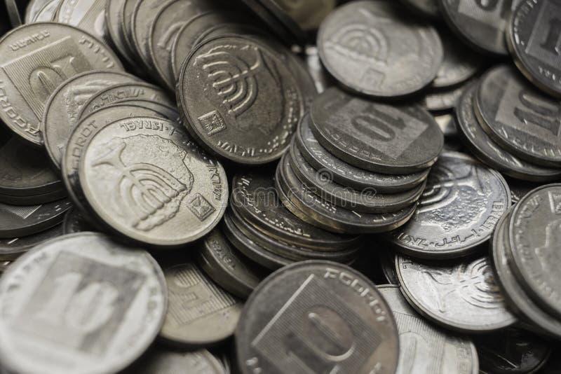 Israelische Münzentapete lizenzfreie stockfotos