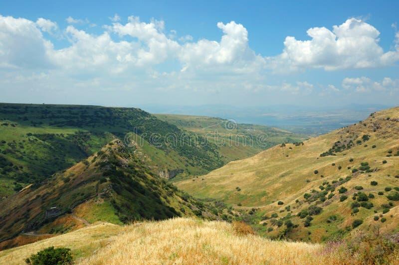 Israelische Nationalpark Gamla Festung, Golan Hights lizenzfreie stockfotos