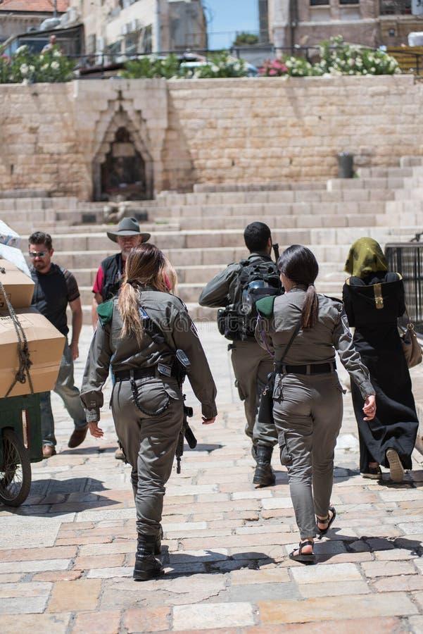 Israelische Polizei in Jerusalem lizenzfreie stockbilder