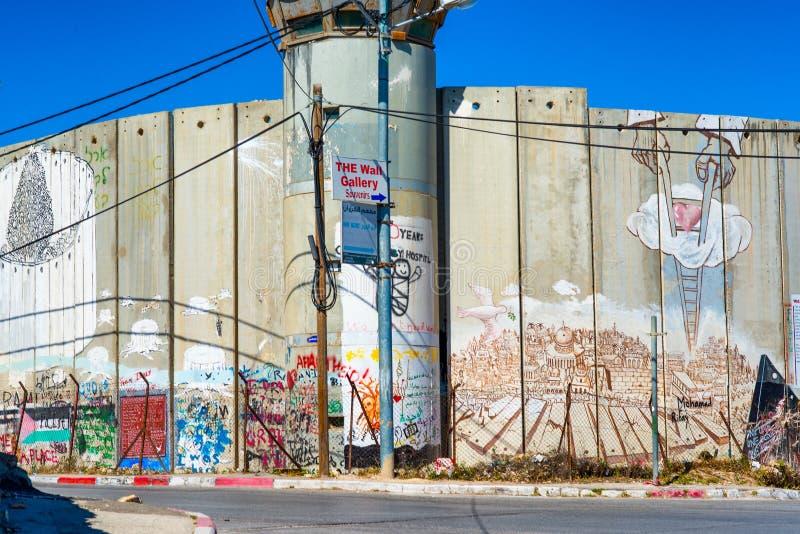 Israelische Sperranlage lizenzfreie stockfotografie