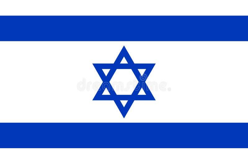 Israelische Staatsflagge, offizielle Flagge von genauen Farben Israels vektor abbildung