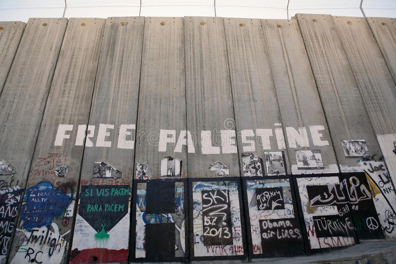 Israelische Westjordanlandsperre  stockfotos