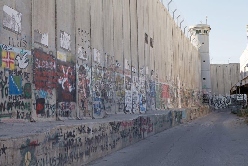 Israelische Westjordanlandsperre lizenzfreie stockfotografie