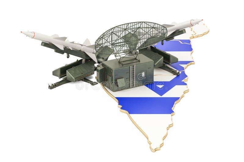 Israelisches Flugverteidigungssystemkonzept, Wiedergabe 3D vektor abbildung