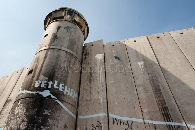israelisk avskiljandevägg royaltyfria bilder