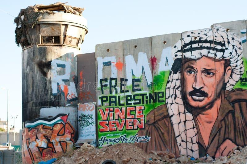 israelisk avskiljandevägg fotografering för bildbyråer