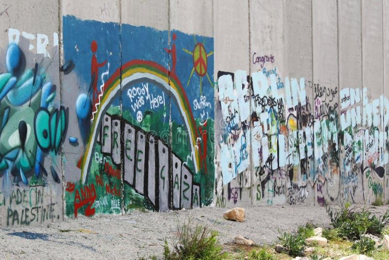 Israelisk avskiljandevägg, Betlehem royaltyfria bilder