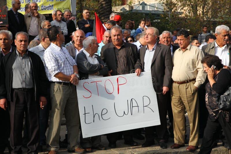 Israelisk Knessetanvändare Mohammad Barakeh royaltyfri foto