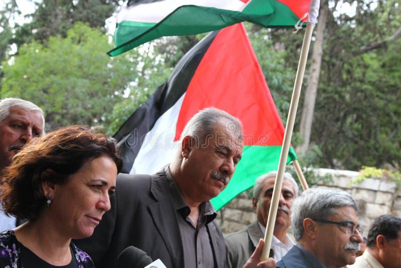 Israelisk Knessetanvändare Mohammad Barakeh arkivfoton