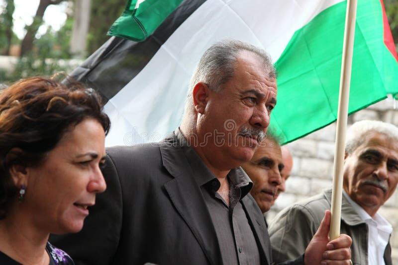 Israelisk Knessetanvändare Mohammad Barakeh royaltyfria foton