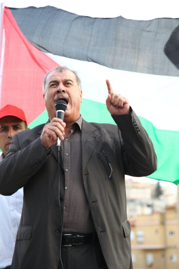 Israelisk Knessetanvändare Mohammad Barakeh royaltyfria bilder
