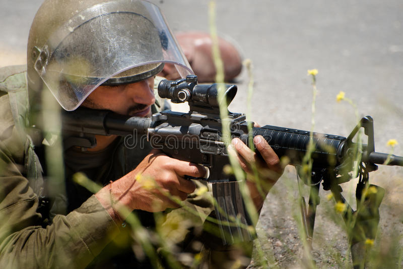 Israelisk militär royaltyfria foton