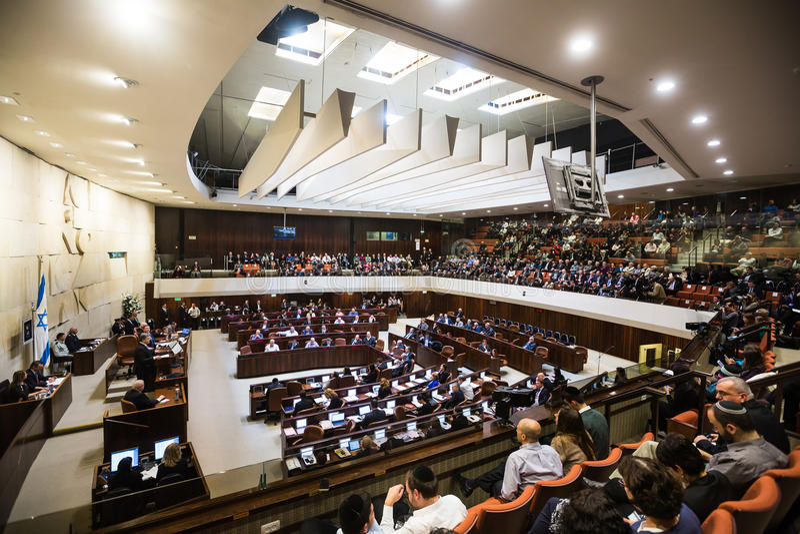 Israelisk parlamentKnesset israel jerusalem arkivfoto