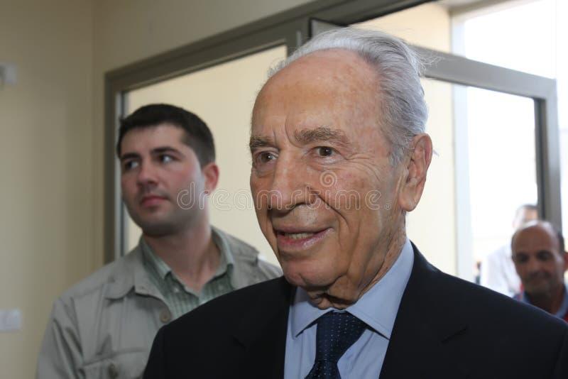 israelisk peres president shimon arkivbilder