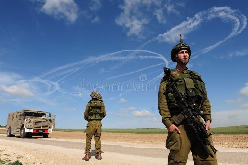 Israelisk väpnad konflikt royaltyfri fotografi