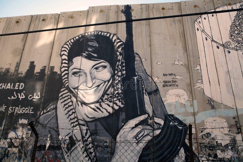 Israelisk Västbankenbarriär  royaltyfria foton