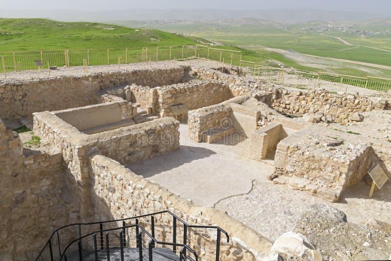 Israelitische Tempel bij Tel. Arad in Israël royalty-vrije stock foto's