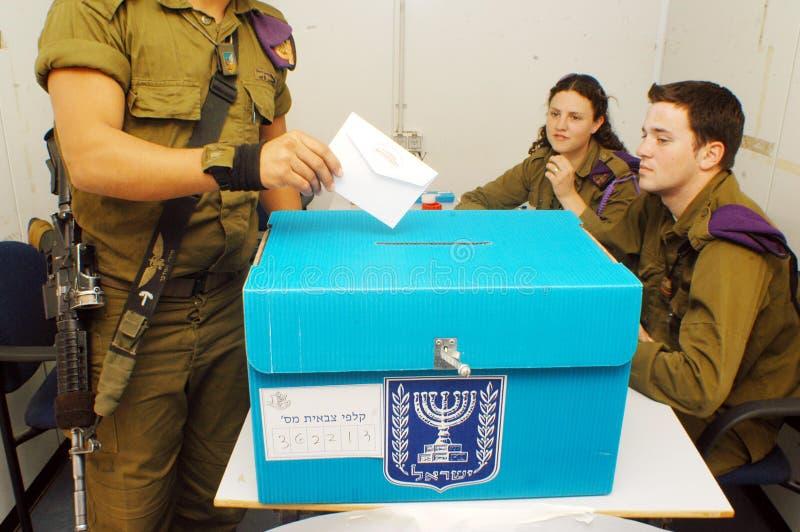 Israels parlamentarisk valdag arkivbild