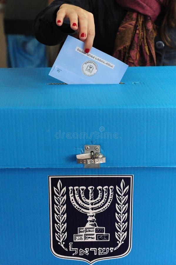 Israels parlamentarisk valdag royaltyfri foto