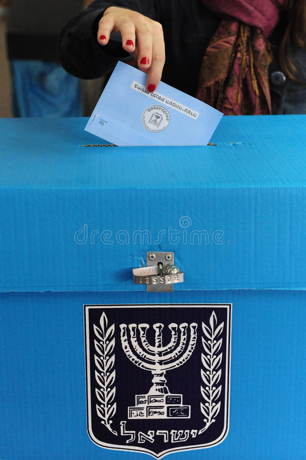 Israels Parliamentary Elections Day royalty free stock photo