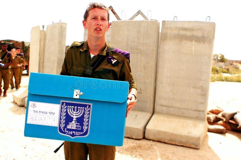 Israels wyborów parlamentarne dzień obraz royalty free