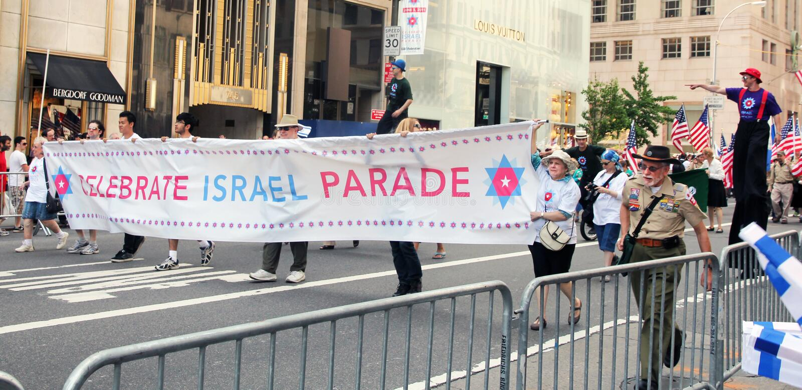 Download Isreal day parade 2011 editorial stock image. Image of celebrate - 19786544
