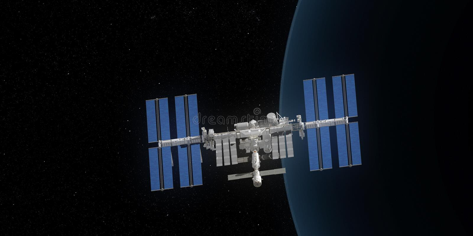 the ISS stock illustration