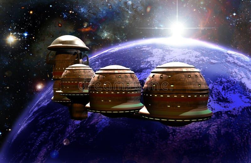ISS do futurista ilustração do vetor