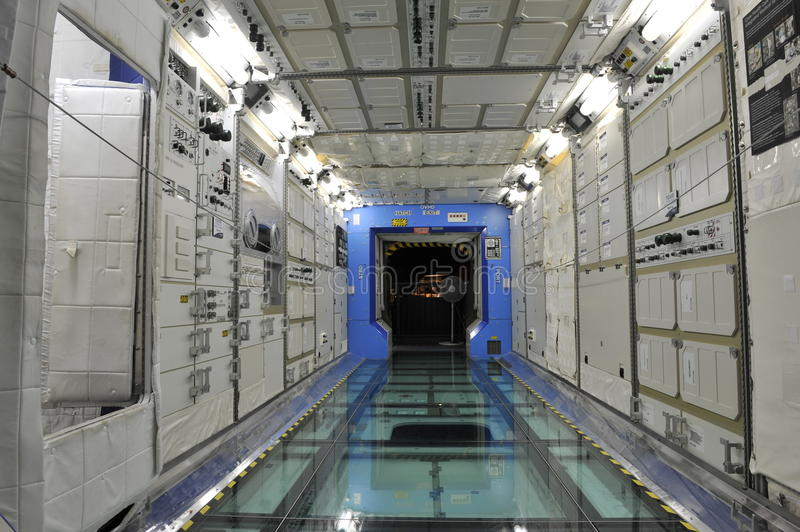 ISS Module. Prototype of an ISS Module in the Museum of Flight, Seattle, Washington, USA stock photos