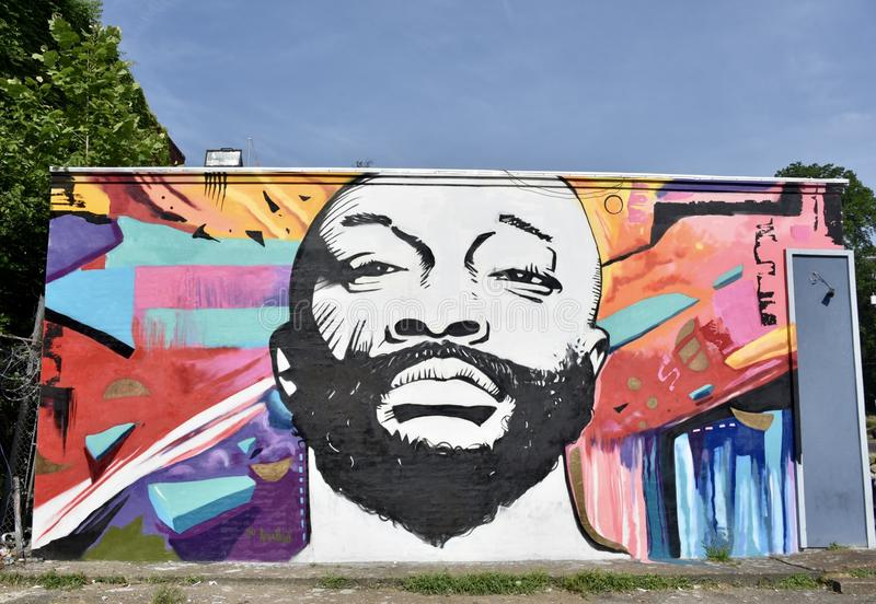 Issac Hayes Mural stockfoto