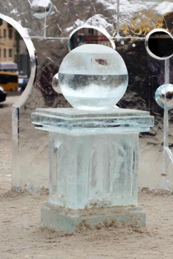 Issfär på iskvarteret arkivfoto