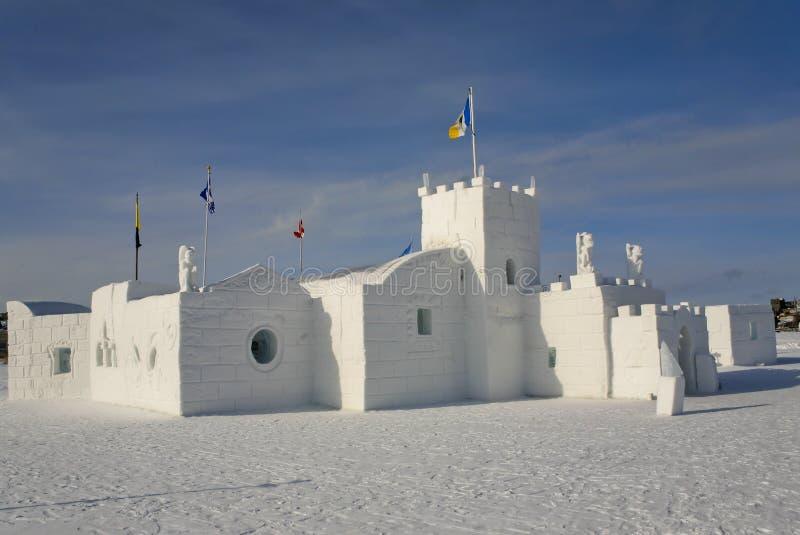 Isslott, Yellowknife, NWT, Kanada arkivfoton