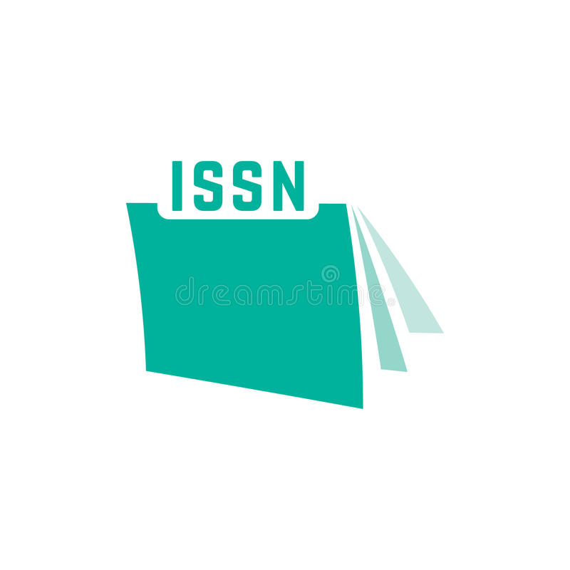 Issn verde con l'icona del giornale illustrazione vettoriale