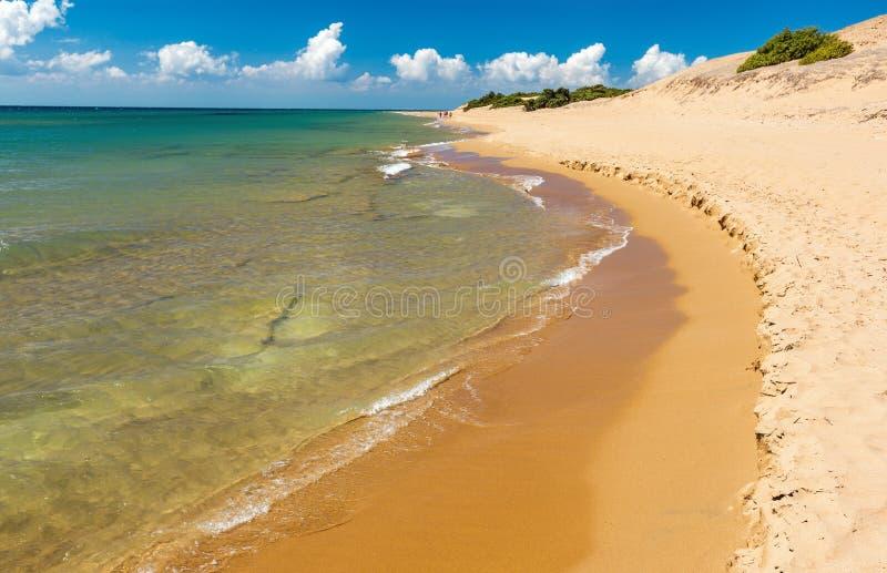 Issos海滩 免版税库存照片