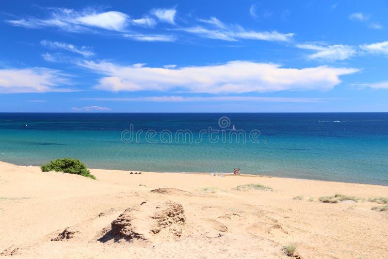 Issos-Strand, Korfu lizenzfreies stockbild