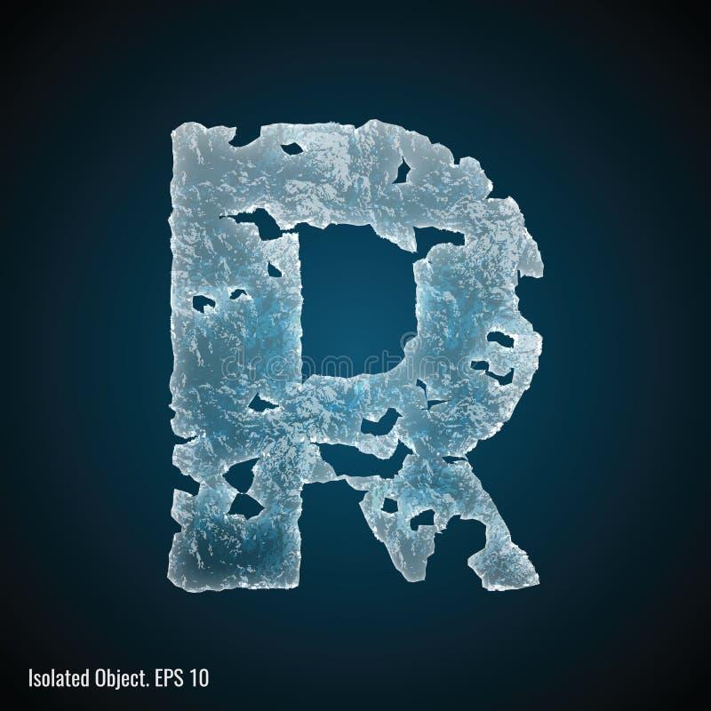 Isstilsort av bokstav R stock illustrationer