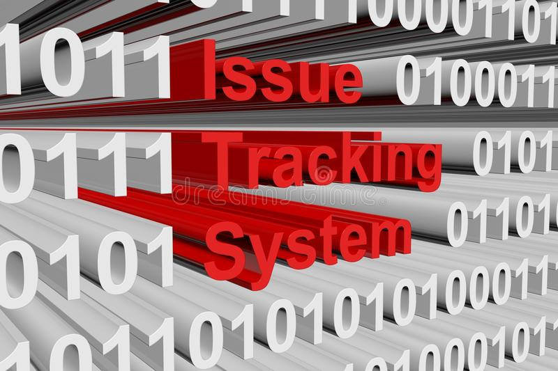 Issue tracking system. In the form of binary code, 3D illustration vector illustration