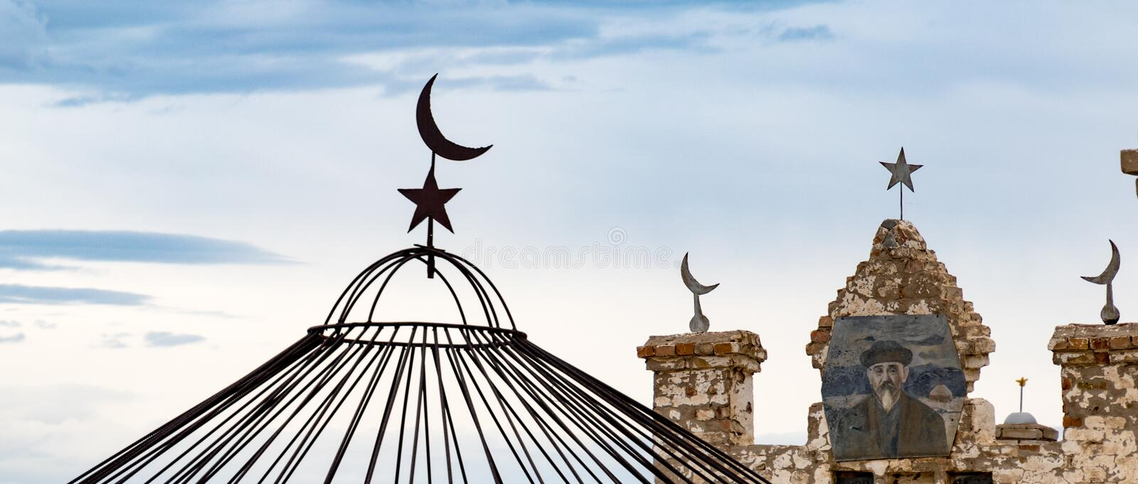 Cemetary roof ornaments royalty free stock photos